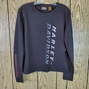 Harley-Davidson Black Racing Long Sleeve Tshirt L